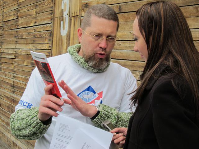 Игорь Гришин даёт интервью радиостанции Эхо Москвы